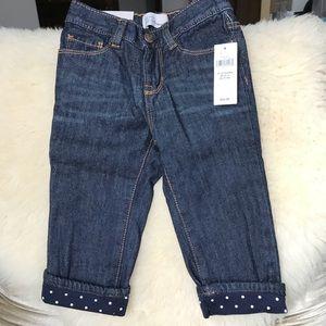 GAP Kids Girls Jeans w Polka Dots NWT, 12-18m